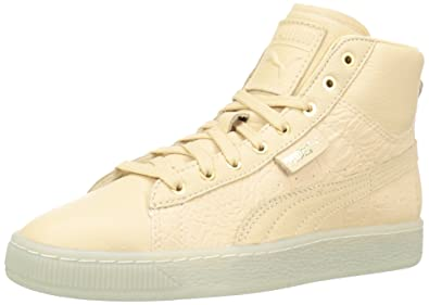 27b9ddbc8a4 PUMA Women s Basket Mid Ali WN s Fashion Sneaker Natural Vachetta Team Gold