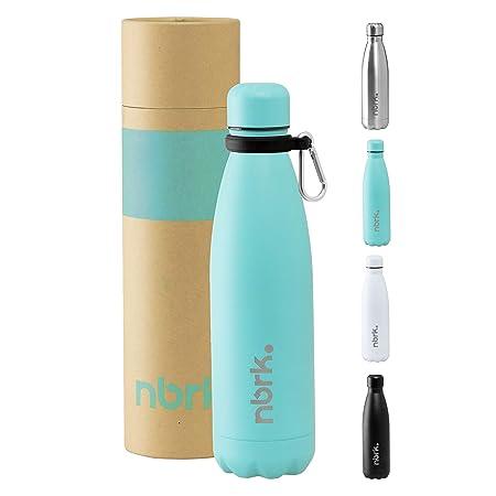 Nobreak - Botella de Agua Acero Inoxidable de Grado Alimenticio Sin BPA - 500/750 ml - Botella Termica Reutilizable para Niños y Adultos, Bebidas ...