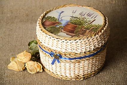 Amazon Com Handmade Woven Paper Basket Newspaper Craft Jewelry Box