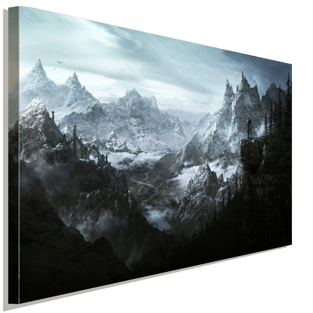 Skyrim Landschaft Leinwandbild LaraArt Studio Wanddeko Wandbild Wandbild Wandbild 120 x 80 cm 43f028