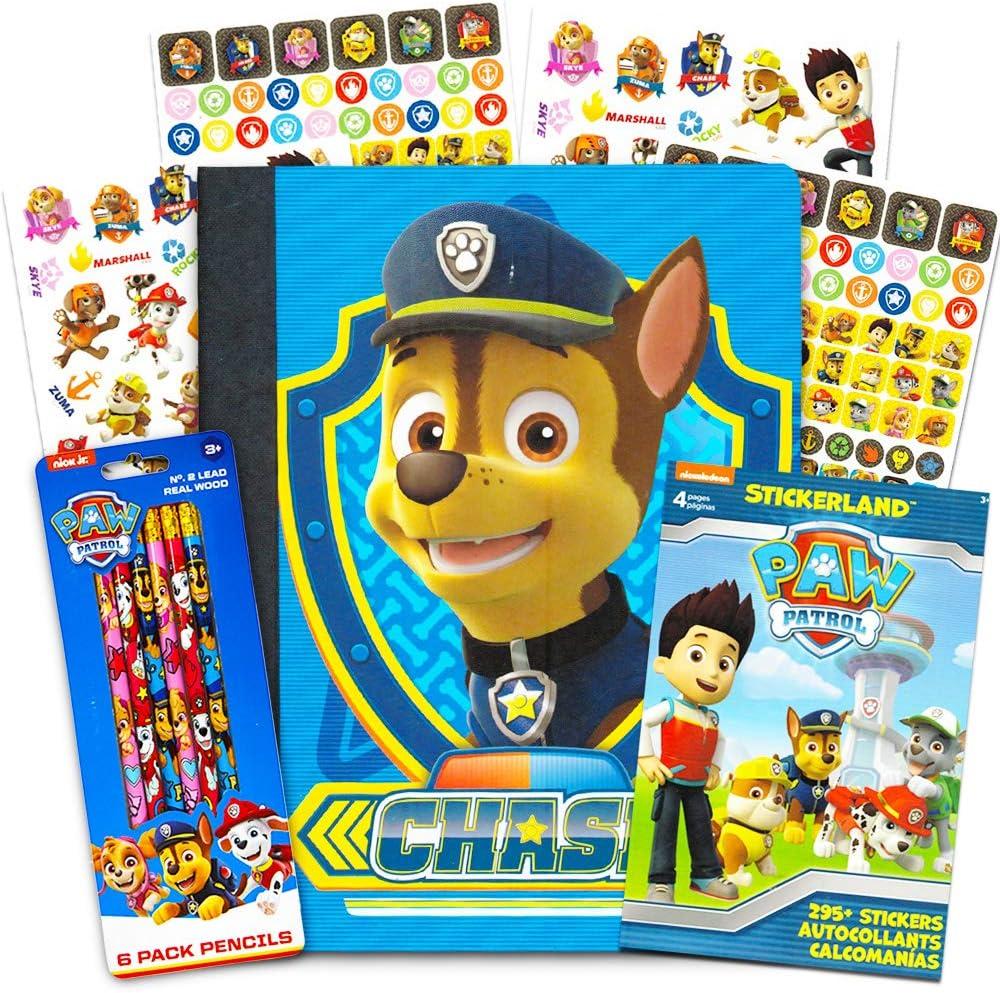 Paw Patrol School Supplies Value Pack – 6 lápices, Cuaderno y Pegatinas: Amazon.es: Juguetes y juegos
