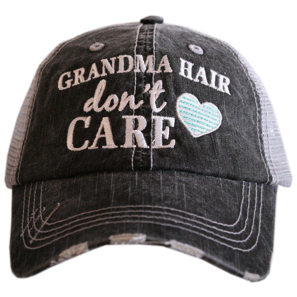 KATYDID Grandma Hair Don't Care Women's Trucker Hats Caps