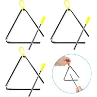 3Pcs de Instrumento de Triángulo Musical, Instrumento de Percusión Infantil Triangulo Musical, Triangulo Percusion…