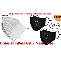 10Pcs PM2.5 Activated Carbon Filter 5 Layer Replacement Protective Filter for Mask