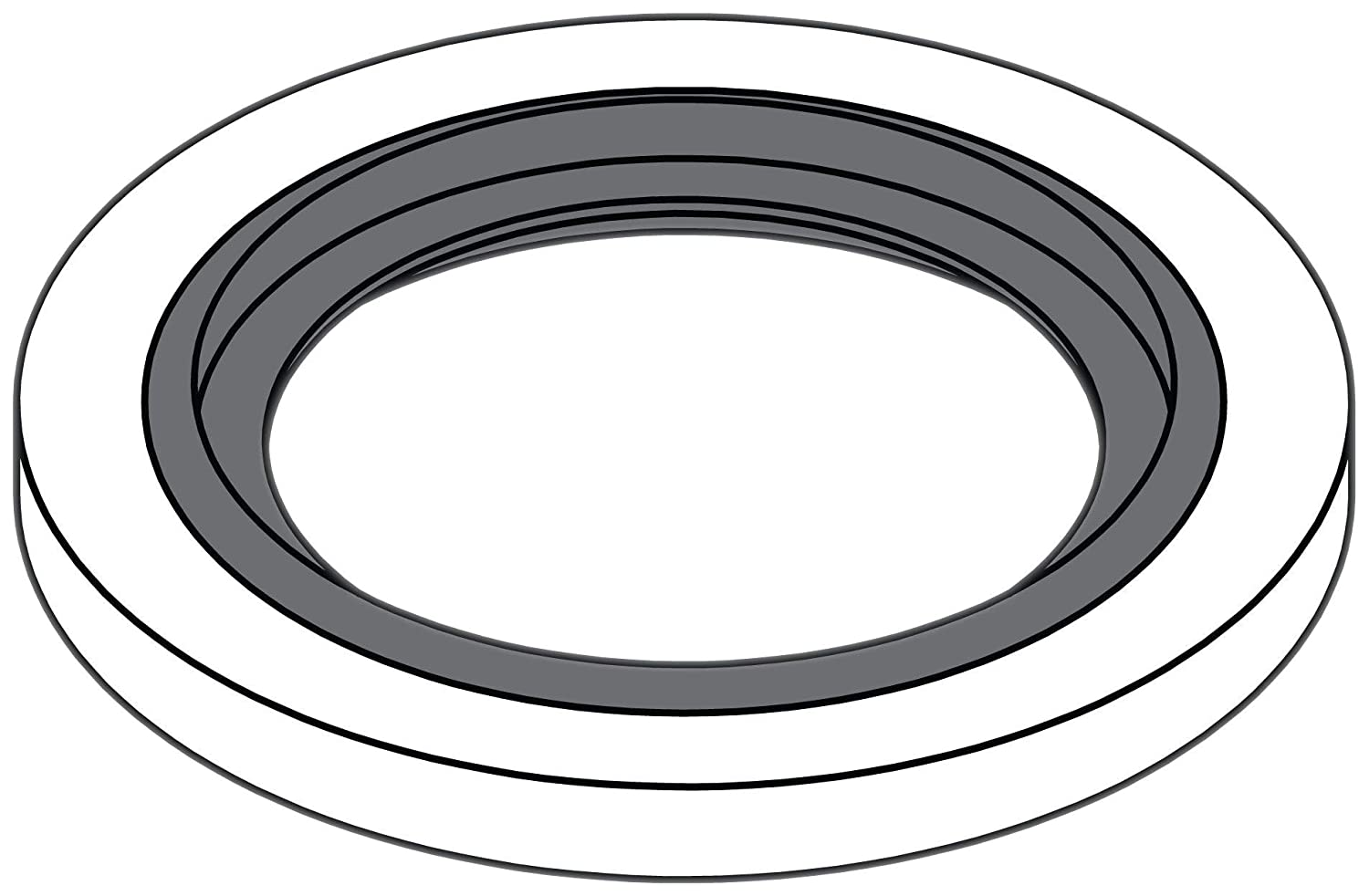 Tompkins Industries DS-MM-42 Bonded Seal for Metric Parallel Thread Steel Nominal Size 42