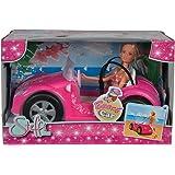 Simba -  105738332 - Pouée Steffi Love - Beach Car - Cabriolet 2 places + Poupée Mannequin 29 cm