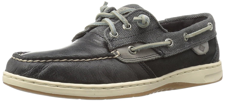 7a9848b2eea7b Sperry Top-Sider Women's Ivyfish Waxed Black Boat Shoe