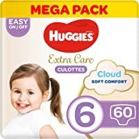 Huggies Extra Care Pants - Size 6, Mega Pack, 15-25 kg, 60 Diapers Pants