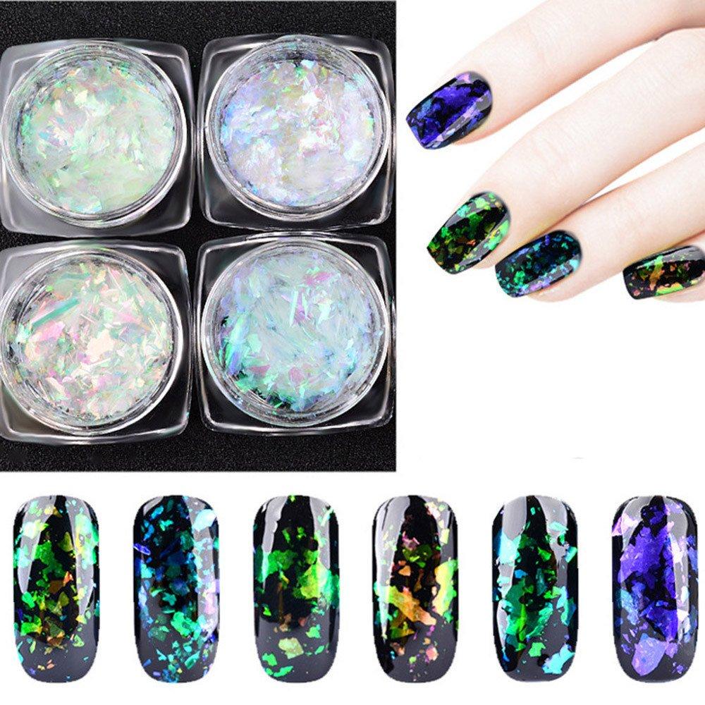 LtrottedJ Nail Art Gorgeous Chameleon Mirror Powder Manicure Chrome Pigment Glitters 0.2g (F)