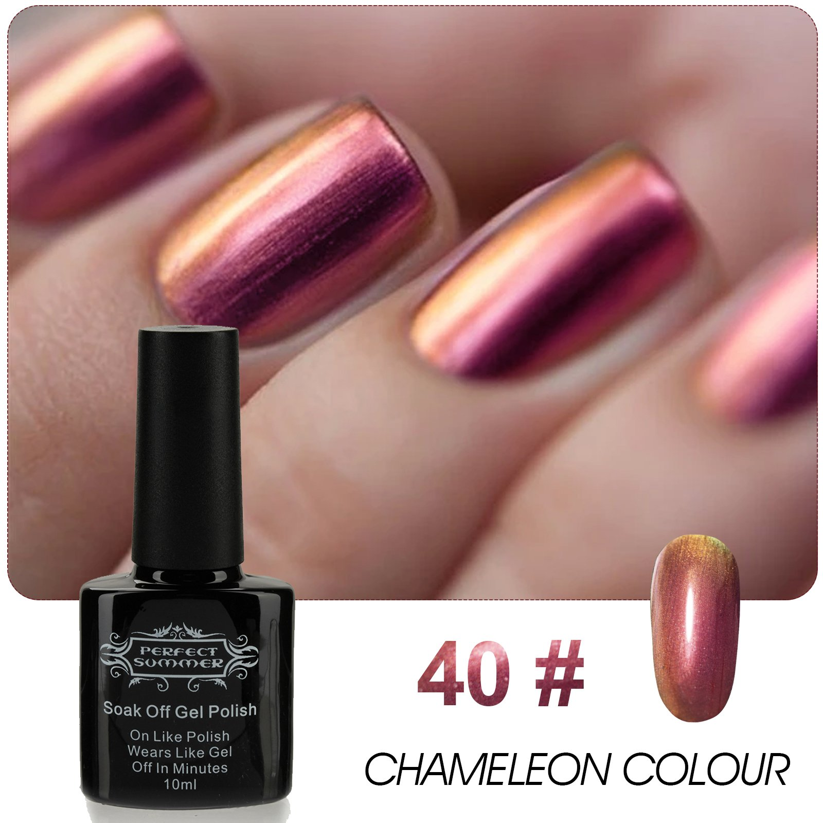 Amazon.com : Perfect Summer 10ml Artistic Nails Lacquers Chameleon ...