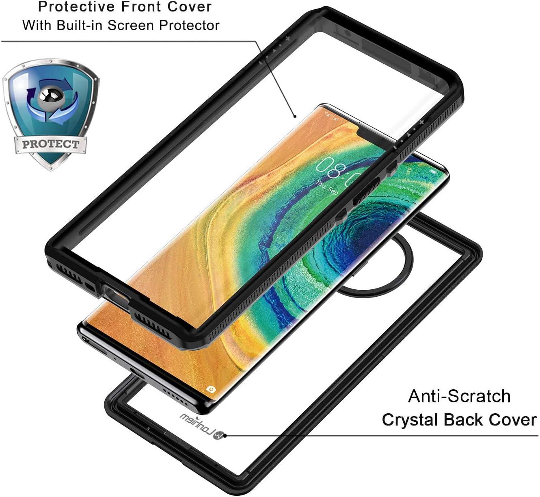 Carcasa Resistente Al Agua IP68 Certificado Carcasa para Huawei P30 Lite con Protector de Pantalla Incorporado Protecci/ón de 360 Grados Lanhiem Funda Impermeable Huawei P30 Lite Negro