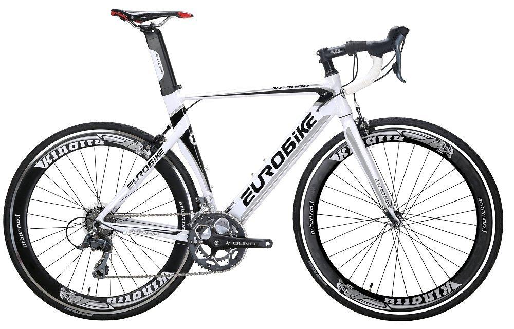 Eurobike Road Bike XC7000 16 Speed Bike Light Aluminum Frame 700C Bicycle