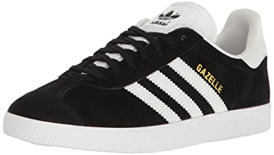 adidas Originals Women's Shoes | Gazelle Sneakers -, Black/White/Metallic Gold,