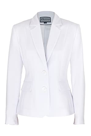 Busy Clothing Womens White Suit Jacket: Amazon.co.uk: Clothing