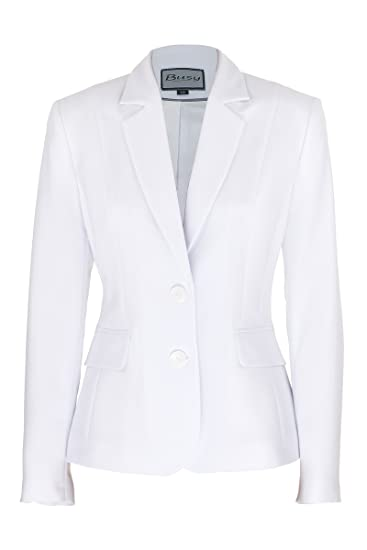 15b1c21e1d5af Busy Clothing Women Suit Jacket White: Amazon.co.uk: Clothing