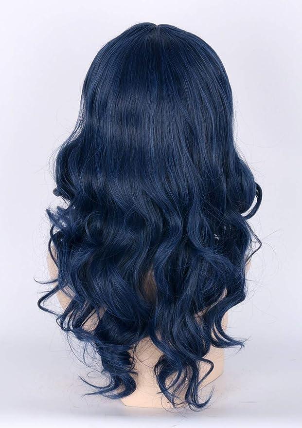 Topcosplay - Peluca para niños con diseño de ondas azules oscuras para disfraz de Halloween, peluca de cosplay: Amazon.es: Belleza