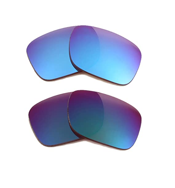 7255baa4abb Best SEEK Replacement Lenses for Oakley HOLBROOK Blue Jade Green Mirror   Amazon.co.uk  Clothing