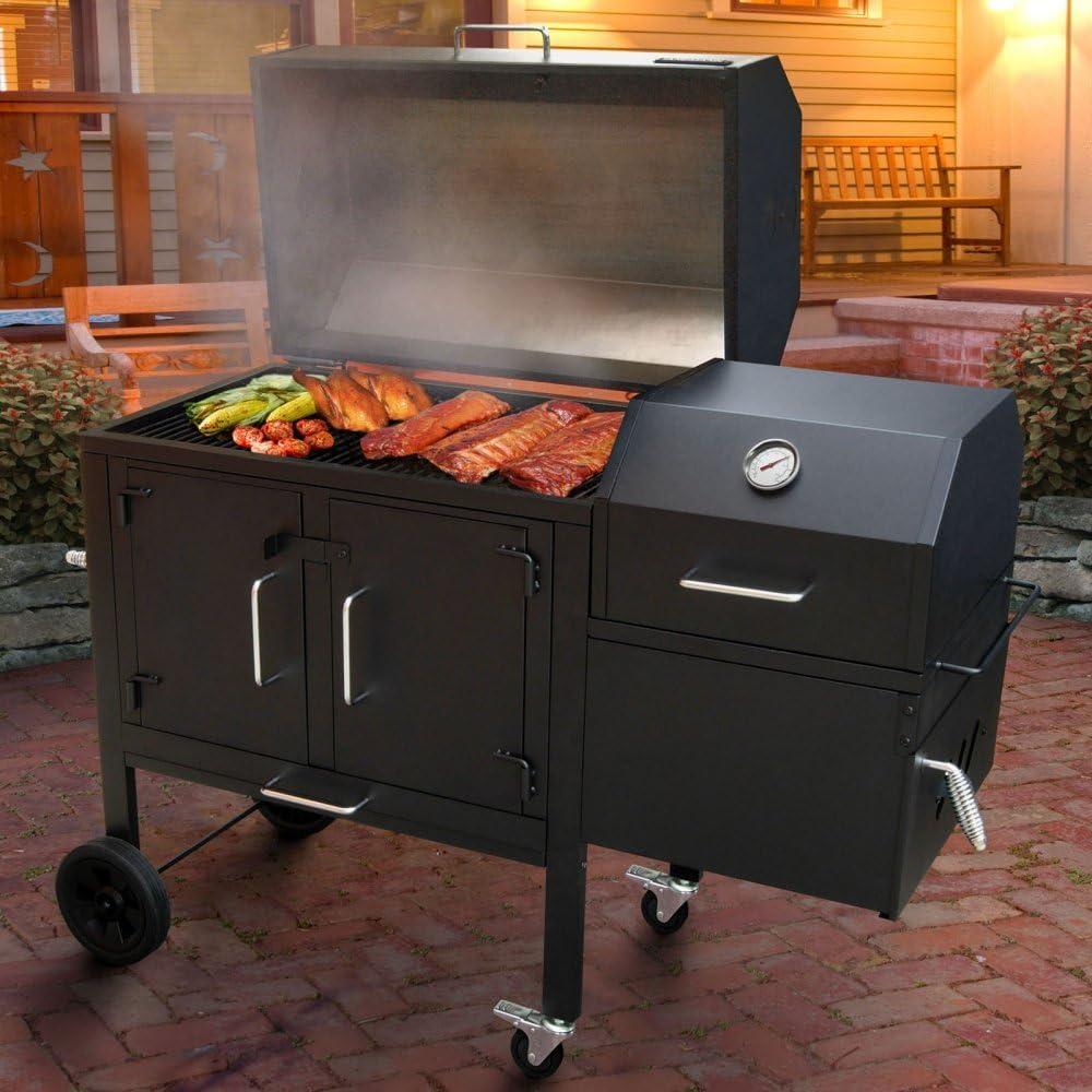 Landmann 590135 Black Dog 42XT BBQ Charcoal Grill and Smoker