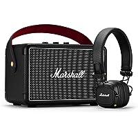 Marshall Summer Bundle Kilburn II Wireless Portable Bluetooth Speaker & Major III Wireless Bluetooth On-Ear Headphones, Black