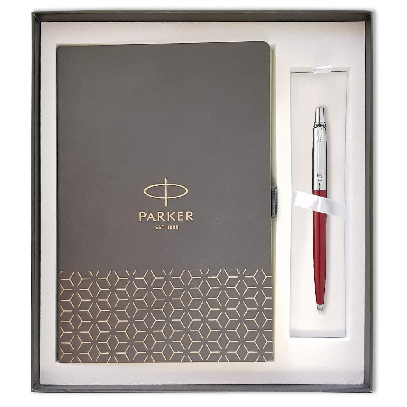 PARKER bianco Penna a sferaJotter Set regalo per notebook formato A5