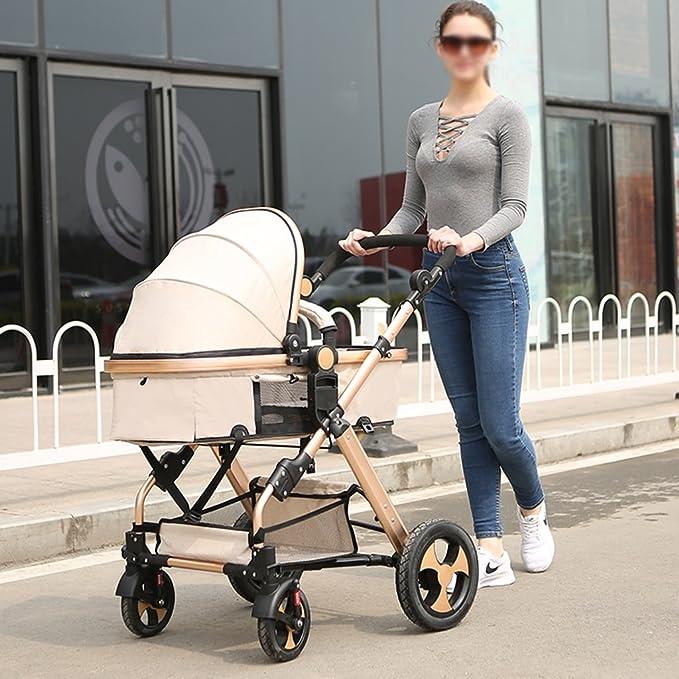 ZXLDP Sillas de paseo Cochecito de bebé / de dos vías puede estar sentado ultra-ligero plegable plegable de cuatro ruedas de bebé de la carretilla de ...