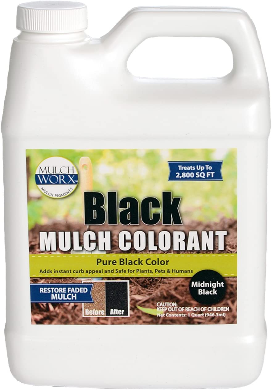 Sanco Industries Concentrado mulchworx el Acolchado Color - 2800 sq. Pie. - Pure Agua Negro Medianoche mantillo Tinte Negro