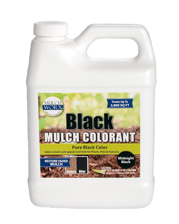 Sanco Industries MulchWorx Black Mulch Color Concentrate - 2,800 Sq. Ft. - Pure Midnight Black Mulch Dye Spray
