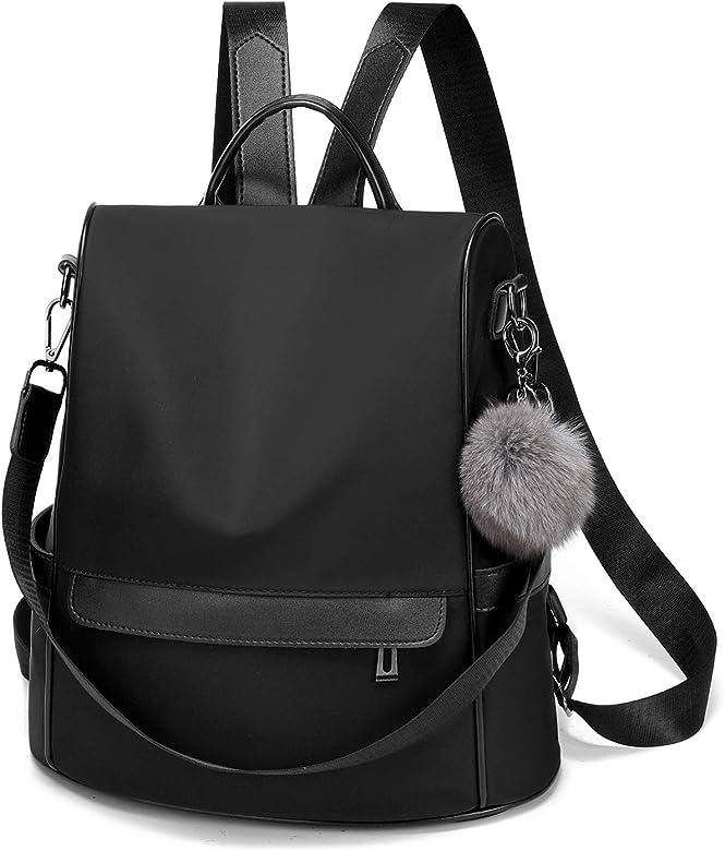 2c051abc34f Women Backpack Purse Nylon Anti-theft Fashion Casual Lightweight Travel  School Shoulder Bag