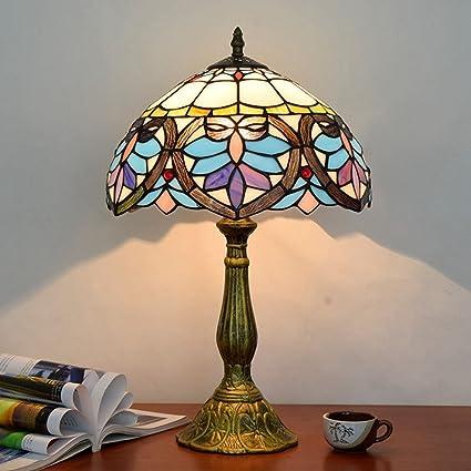LOSA 12 Pulgadas Tiffany lámpara de Mesa Retro Estilo de ...