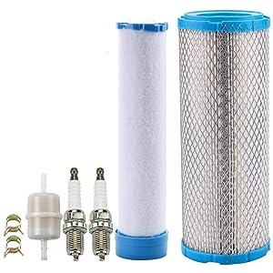Leopop 11013-7020 Air Filter Spark Plug for John Deere M131802 M144100 Kawasaki FX691V FX730V FH680V FH641V FD731V FD750D FD791D FH601V FH721V FH770D FX651V FX751V FX801V FX850V Lawn Mower Tractor