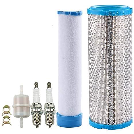 Leopop 11013-7020 Air Filter Spark Plug for John Deere M131802 M144100  Kawasaki FH680V FH641V FD731V FD750D FD791D FH601V FH721V FH770D FX651V  FX691V