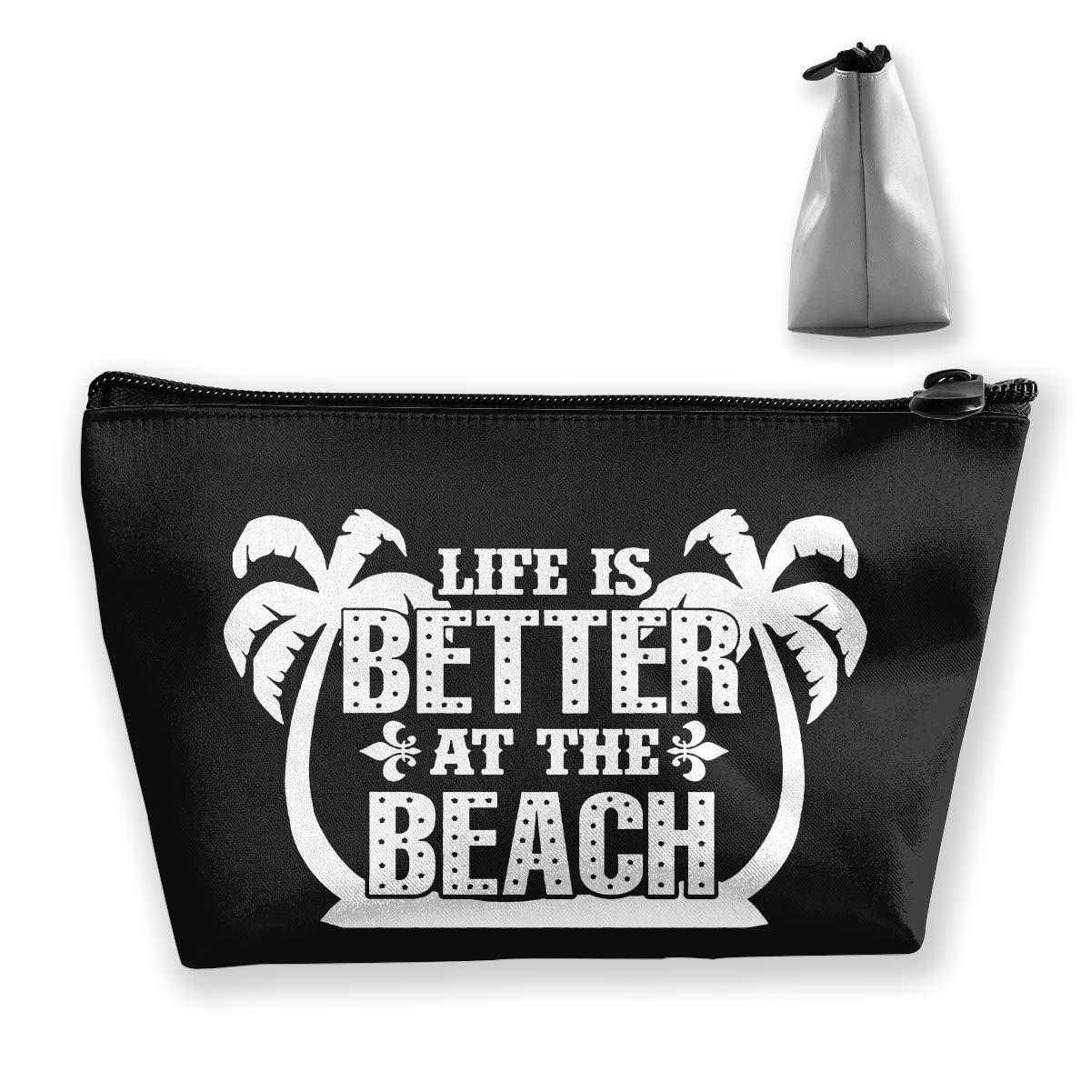 4985d519fd87 Amazon.com: customgogo Women's Just Volleyball Travel Makeup Bags ...