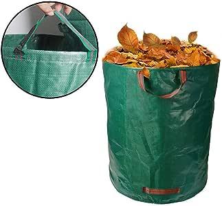 16/32/63/72 galones Jardín Deciduo Bolsa Jardín Jardín Césped Bolsa de basura Contenedor Bolsas de basura: Amazon.es: Jardín