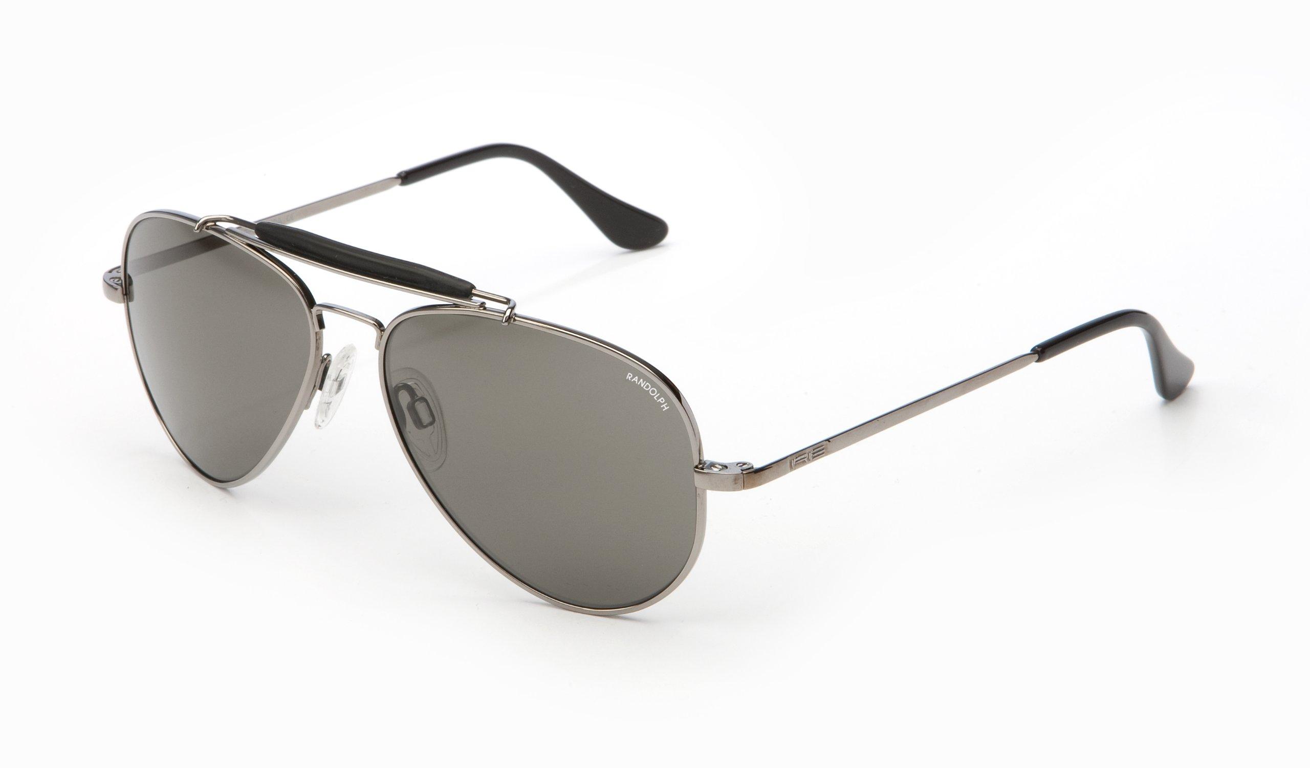 Randolph Sportsman Sunglasses Gun Metal / Skull / Gray Glass 57mm