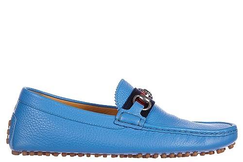 Gucci Mocasines en Piel Hombres Camelot BLU EU 44 322741 AOD20 4360: Amazon.es: Zapatos y complementos