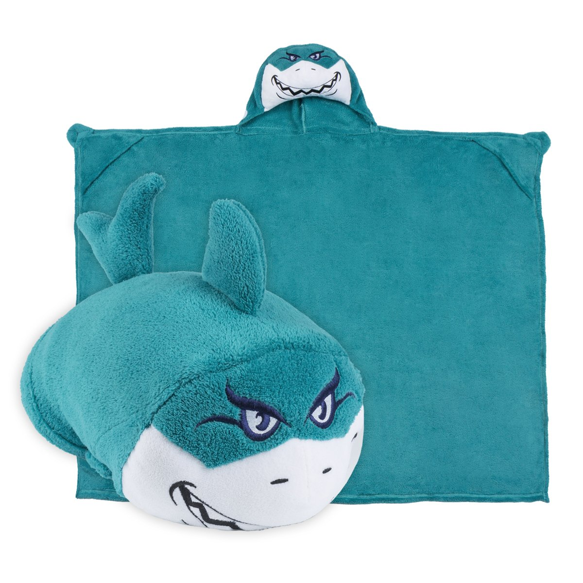 Comfy Critters Stuffed Animal Blanket - Shark - Kids Huggable Pillow and Blanket Perfect for Pretend Play, Travel, nap time.