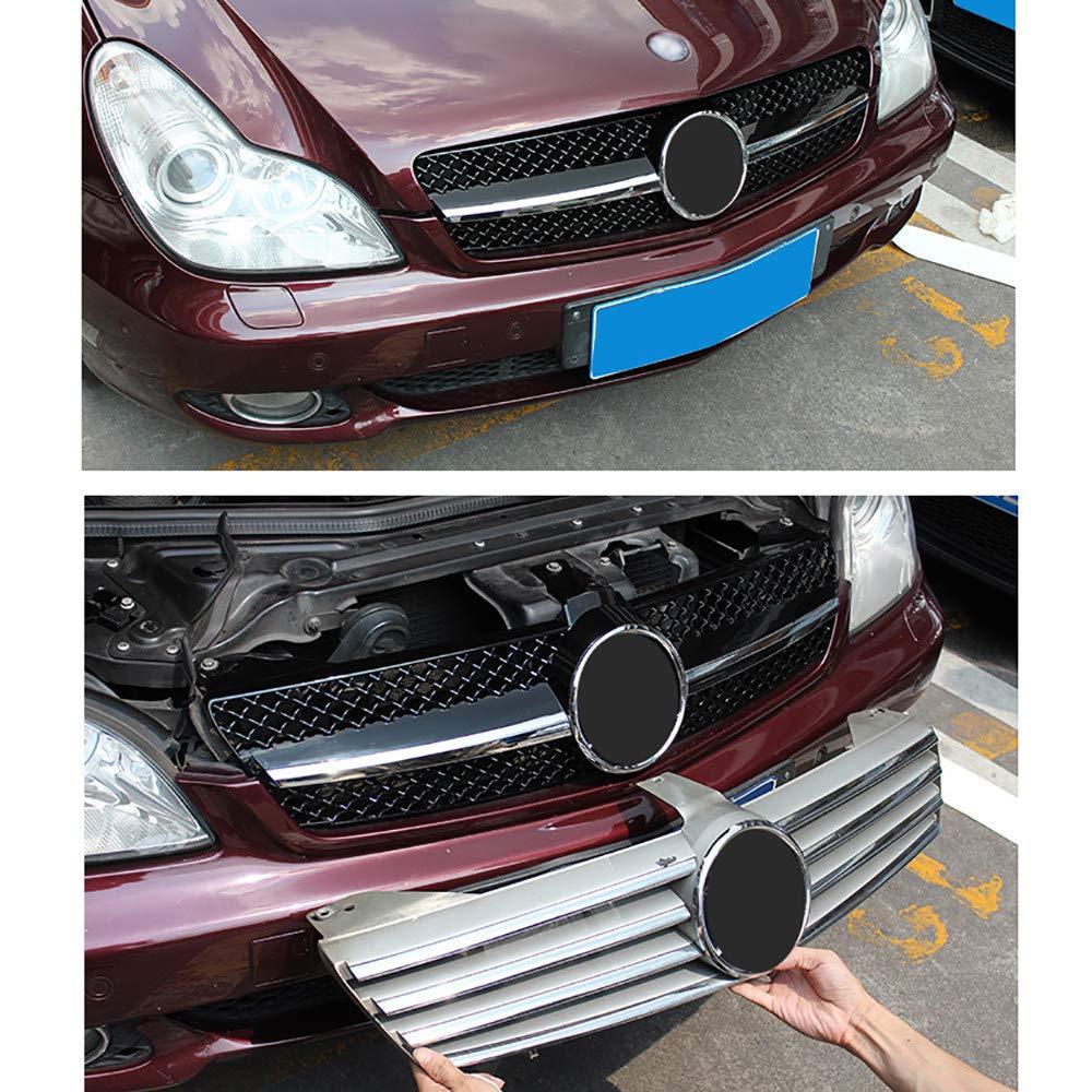 Parrilla de Parachoques Delantero ABS Parrilla Decorativa de Radiador de Coche Estilo AMG Modificado,Black 2003-2007 Parrilla Frontal para Mercedes-Benz CLS W219
