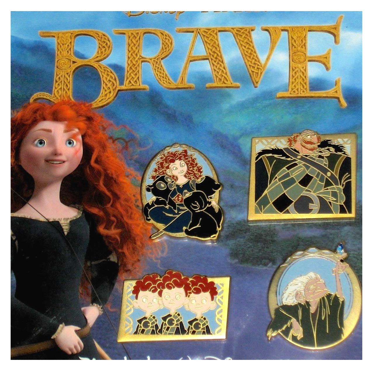 Disney Pins - Merida Brave 4 Trading Pin Booster Set