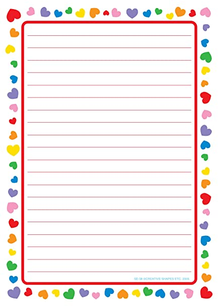 printable lined paper with border pdf