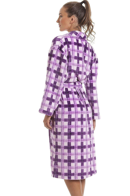 Camille Frauen Farbe weichen Fleece Bademan
