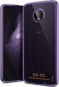 Moto Z4 Case, Moto Z4 Play Case, Aeska Ultra [Slim Thin] Flexible TPU Gel Rubber Soft Skin Silicone Protective Case Cover for Motorola Moto Z4 (Purple)