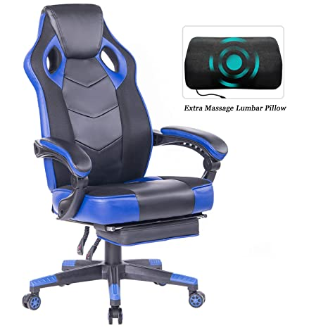Fine Healgen Gaming Chair With Footrest Racing Computer Pc Chair Ergonomic High Back Swivel Executive Office Chair Mesh Leather Reclining Desk Chair Rc906 Gmtry Best Dining Table And Chair Ideas Images Gmtryco