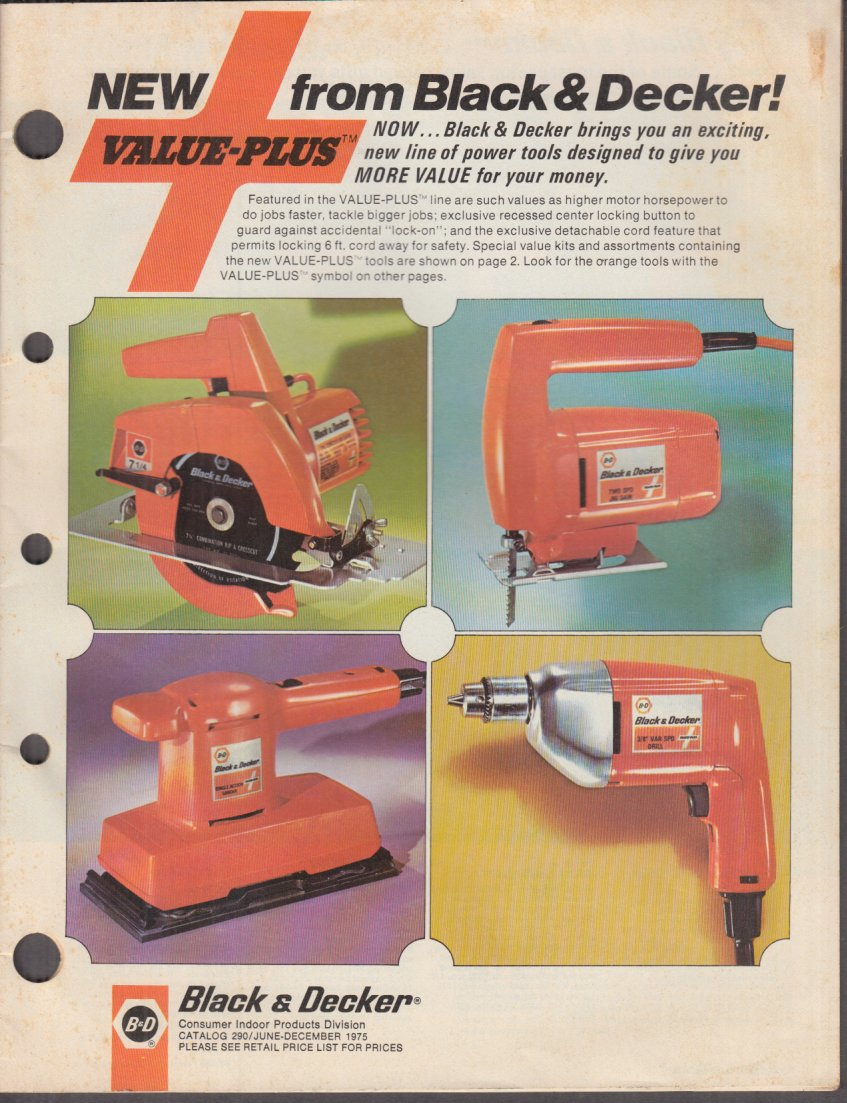 Magnificent New From Black Decker Value Plus Power Tools Catalog 1975 Machost Co Dining Chair Design Ideas Machostcouk
