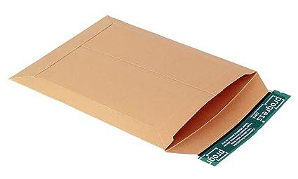 progressPACK V04.03 - Sobre de envío, (DIN A4, 235 x 308, hasta 30 mm de grosor, 25 unidades, cartón), color marrón