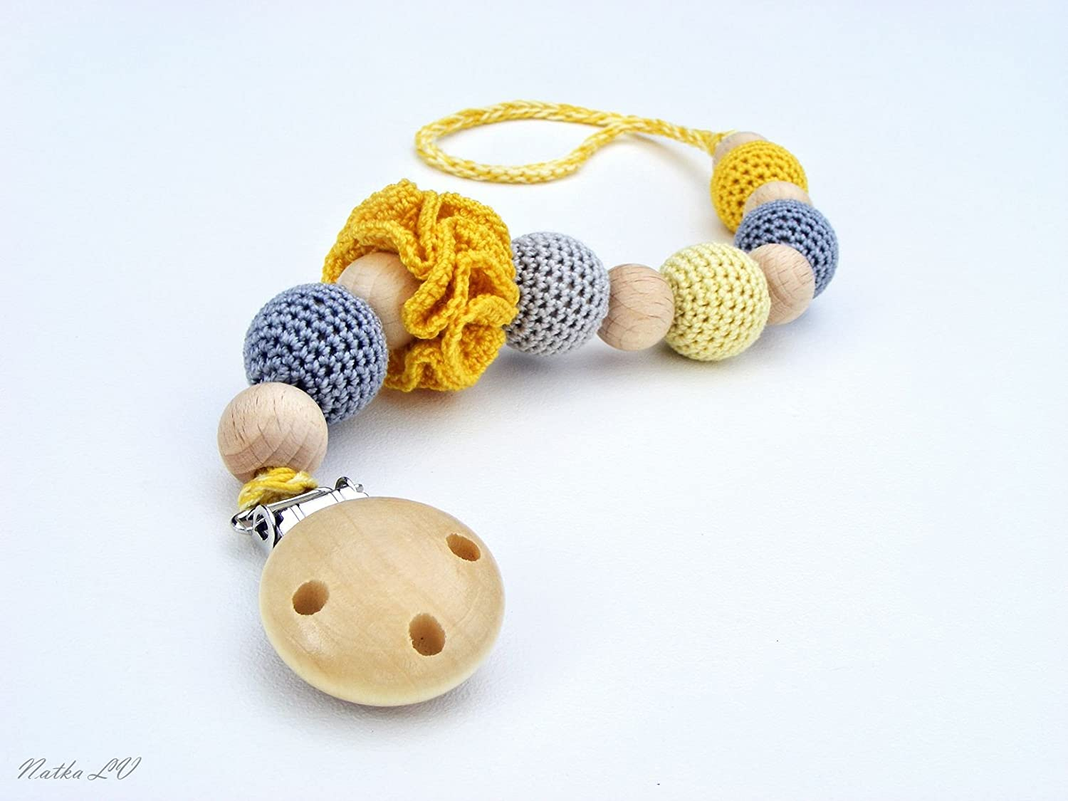Amazon Pacifier Clip Crochet Pacifier Holder Dummy Chain