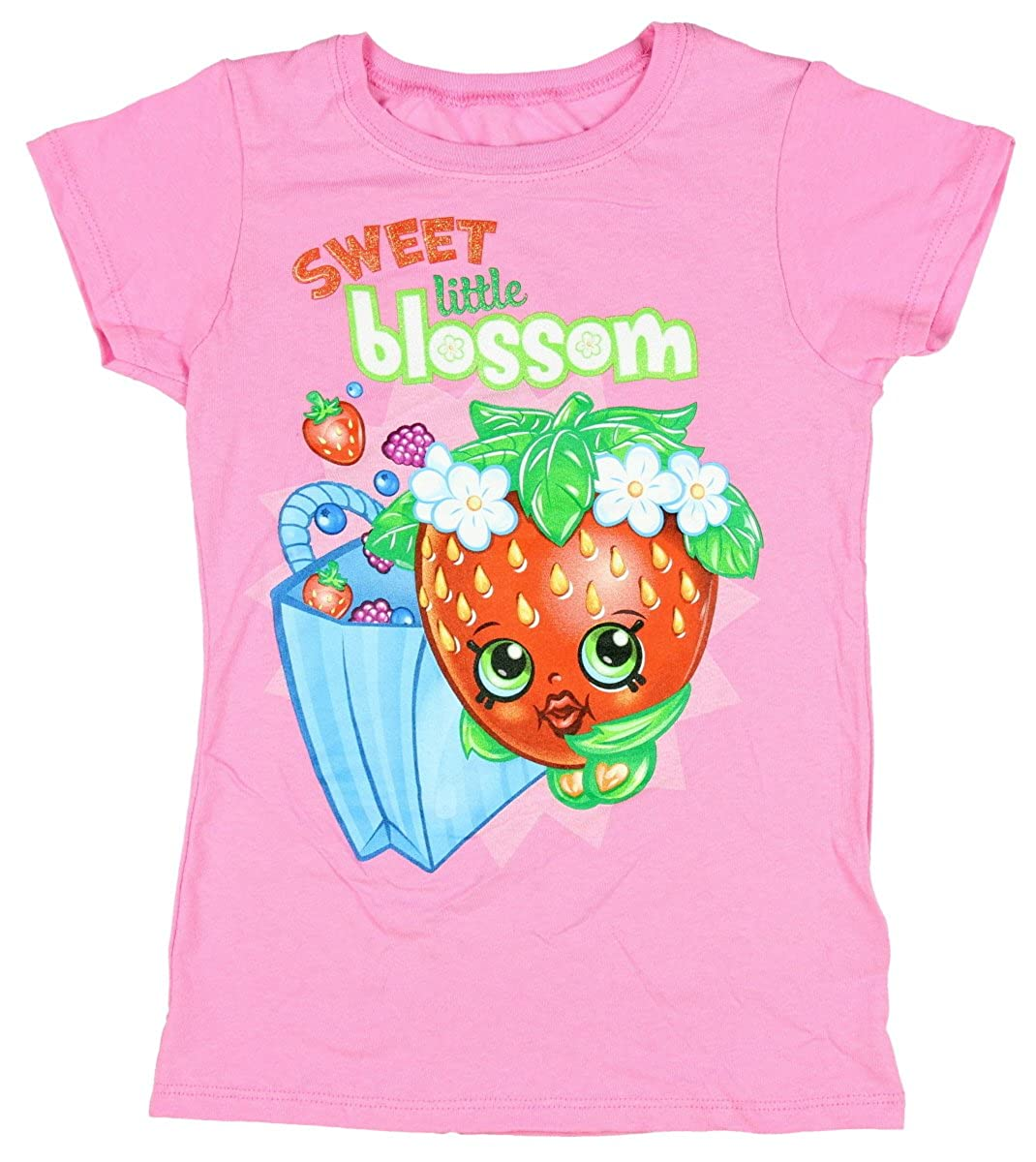 Shopkins Big Girls' Shopkins T-Shirt Moose Enterpirse