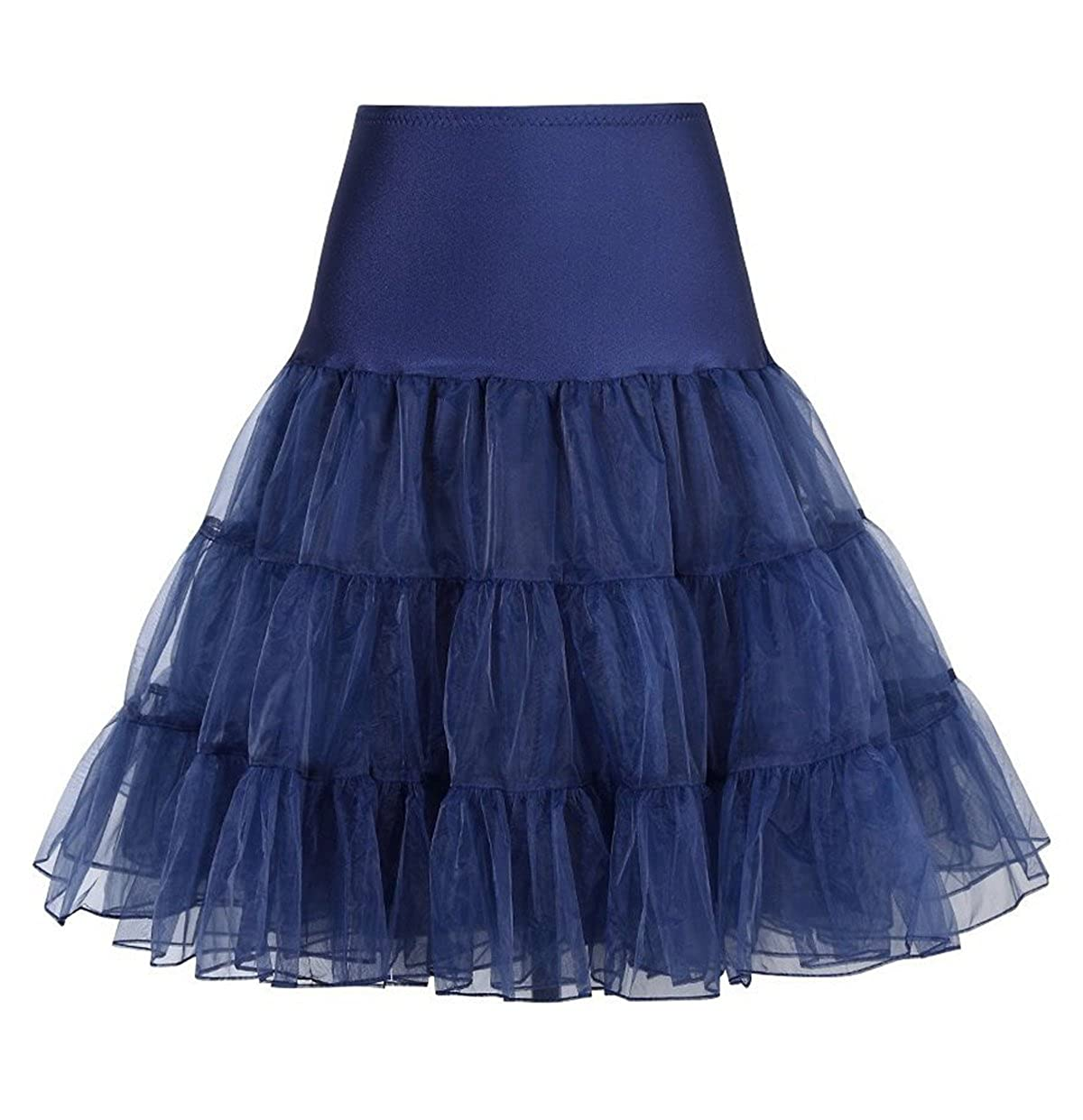 Laorchid Womens 50s Petticoat Knee-Length Crinoline Underskirts Tutu Slip