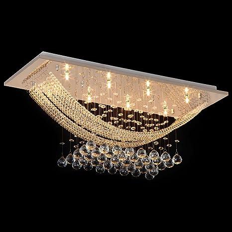 Amazon.com: Candelabro moderno de vidrio de gotas para ...