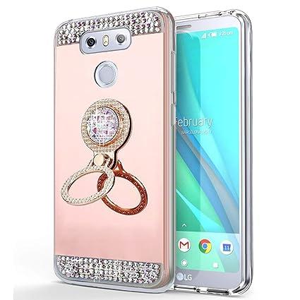 EINFFHO LG G6 móvil, LG G6 Espejo Funda, Cristal Strass ...