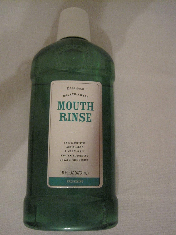MelaleucaBreath-Away Mouth Rinse-Alcohol Free-Fresh Mint-16 FL OZ(473 mL)